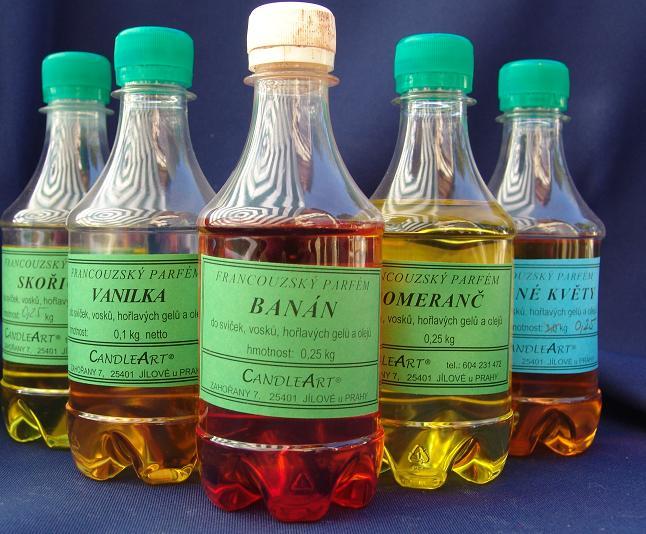 Parfémy, lampové oleje